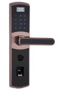Fingerprint Safe Door Lock with Touch Keypad, Key Unlock, Low Voltage Alarm (UL-780) pictures & photos
