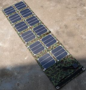Foldable Solar Power Charger Portable Outdoor Travel Solar Power Pack Solar Charger Bank 40W pictures & photos