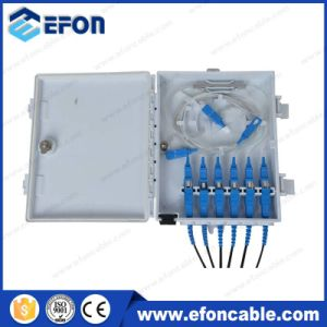 Good Quality FTTH Outdoor/Indoor 6 Core 1*6 Optical Distribution Box pictures & photos