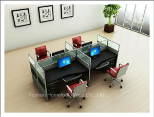 4 Seater Hot Popular Modern Office Workstation Partition (HF-YZQ319) pictures & photos