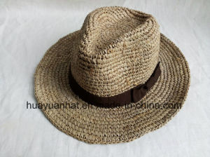 100% Raffia Straw with Crocheted Safari Hats