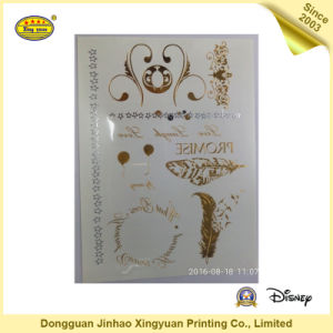 Gold and Silver Shining Body Tattoo Stickers for Girls (JHXY-TT0019)