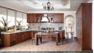 Imported Oak Solid Wood Kitchen Cabinet