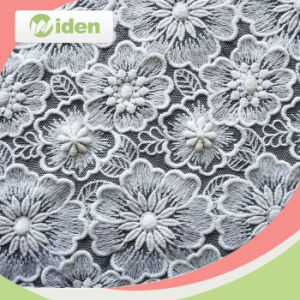 Wedding Dress Accessories 130cm Nylon and Cotton Embroidery Lace Fabric pictures & photos