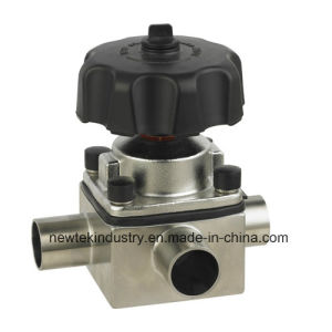 Sanitary 3-Way Diaphragm Valve with Butt-Weld Ends pictures & photos