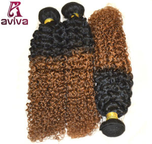 Jerry Curl 100% Virgin Hair Ombre Natural Virgin Hair Extension pictures & photos
