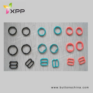Plastic Bra Buckles Ring and Slider 8mm, 10mm, 12mm pictures & photos