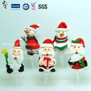 Polymer Clay Christmas Decoration for Cake pictures & photos
