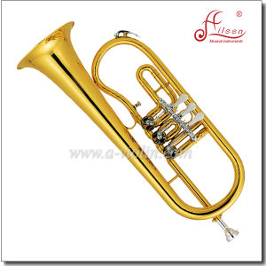 Bb Key Yellow Brass Piston Lacquer Jinbao Flugelhorn pictures & photos