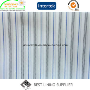 100 Polyester Lining Men′s Suit Sleeve Lining Yarn Dyed Striped Lining pictures & photos