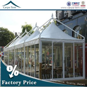 50 People Rainproof PVC Glass Wall Golf Pagoda Tent / Gazebo Tent for Events pictures & photos