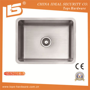 Single Bowl Undermount Steel Sink Kud2318 with Cupc pictures & photos
