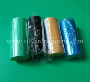 Custom Low Price LDPE Plastic Pink Trash Bag on Roll pictures & photos
