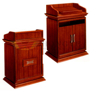 Wooden Modern Office Commercial Lectern (HY-008) pictures & photos