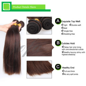 High Quality Light Brown Brazilian Virgin Human Remy Hair pictures & photos