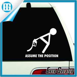 Assume The Position White Car Window Sticker Design Your Own pictures & photos