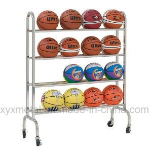 Movable Portable Basketall Football Roll Ball Hand Carts Rack pictures & photos
