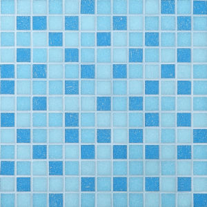 China Building Material Mosaic Tiles Blue Glass Mosaic For