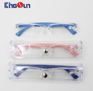 One Part Frame Reading Glasses with Color Temple pictures & photos