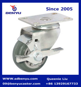 "4"" Polyurethane Caster. Swivel Caster. Grey Wheels pictures & photos"