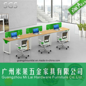 Office Furniture Wooden Computer Table with Metal Frame pictures & photos