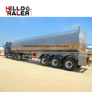 China Manufacture Tri-Axle 40m3 Fuel Tanker Truck Trailer for Transporting Diesel Fuel pictures & photos