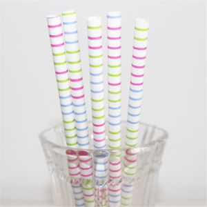 Colorful Paper Drinking Straws for Birthday Party Decoration pictures & photos