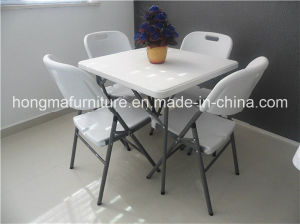 Outdoor Square Plastic Folding Table for Picnic Use pictures & photos