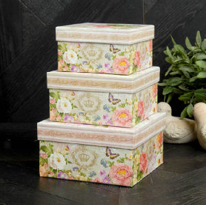 Set of 6 Carton Custom Nesting Paper Storage Gift Box pictures & photos