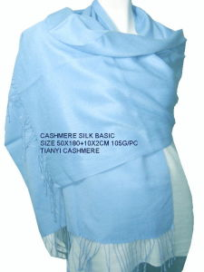 Basic Pashmina Shawl: Silk Cashmere pictures & photos