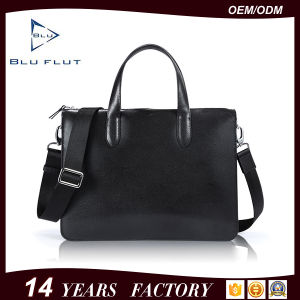 Classical Black Italian Leather Handbags Men Hand Bag Genuine Leather pictures & photos