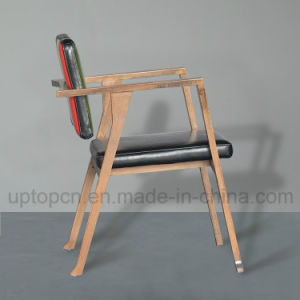 Modern Wooden Restaurant Furniture Chair with Triple Color and Armrest (SP-EC650) pictures & photos