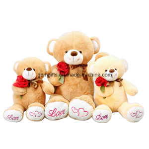 Lovely Teddy Bear Plush Toys with Rose pictures & photos