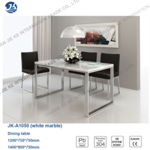 2016 Nordic Minimalism Metallic High Gloss Square Dining Furniture pictures & photos