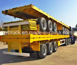 40feet 3 Axle Tractor Flatbed Heavy Truck Semi Utility Trailer pictures & photos