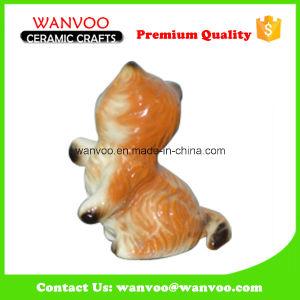 Cute Cat Color Glazing Porcelain Statue Figurine for Decor pictures & photos