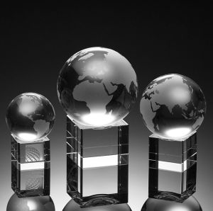 Spinning Globe Crystal Award (3021S, 3021M, 3021L) pictures & photos