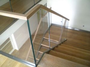 Interior Modern Aluminum Tempered Glass Railing with Base Channel pictures & photos