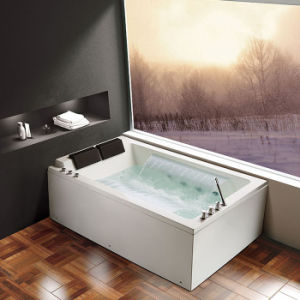 2 Persons Acrylic SPA Massage Bathtub, Long Waterfall, LED Light (K1295) pictures & photos