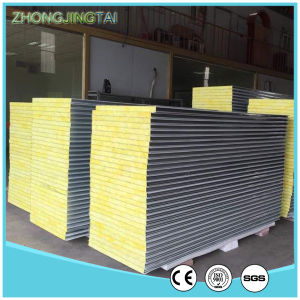 Customized Color Steel Panel Sandwich Rockwool Sandwich Panels for Wall and Roof pictures & photos