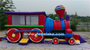 Inflatable Train Bouncy Castle Combo, Train Jumping Bouncer pictures & photos