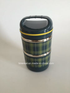 Stainless Steel Food Box Carrier with Hand Xg-003 pictures & photos