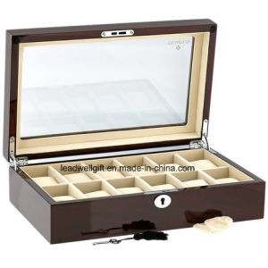 12-Slot Wood Watch Box /Jewellery Display Storage Organizer Box (LW-JB0328) pictures & photos