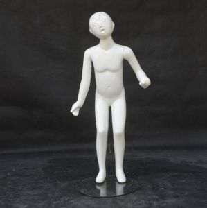 Shiny White Fiberglass Children Mannequin for Dress