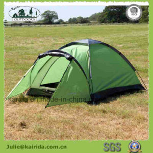 2 Persons Single Layer Camping Tent with 3 Poles pictures & photos