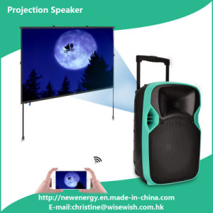 "Professional 12"" Full-Range Speaker Box PA Speaker with LED Projector pictures & photos"