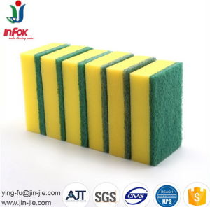 Eco-Friendly Household Cleaning Cellulose Sponge with Green Pad pictures & photos