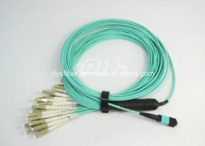 24f MTP-LC Om3 Optical Fiber Patch Cable, Low Insertion Loss Less 0.3dB pictures & photos
