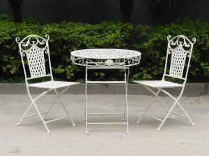 Antique White Hot Selling Outdoor and Indoor Bistro Set pictures & photos