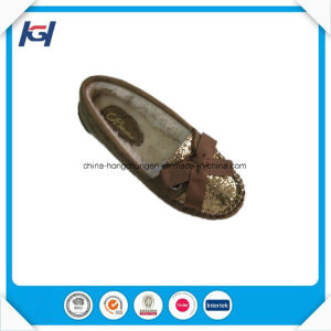 Fashion High Quality Seuqins Cozy Women Moccasin Slippers pictures & photos
